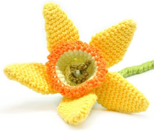 Crochet Pattern Flower Daffodil