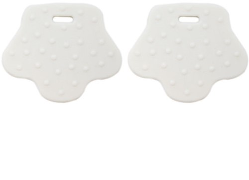 Teether Rings Animal Feet 8 Off-White