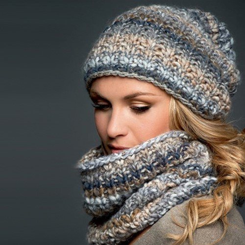 Knitting pattern Olympia snood and hat