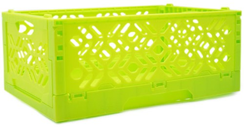 Yarnplaza Foldable Storage Crate Lime