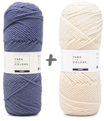 Dream Blanket 4.0 KAL Knitting Kit 10 Denim & Cream