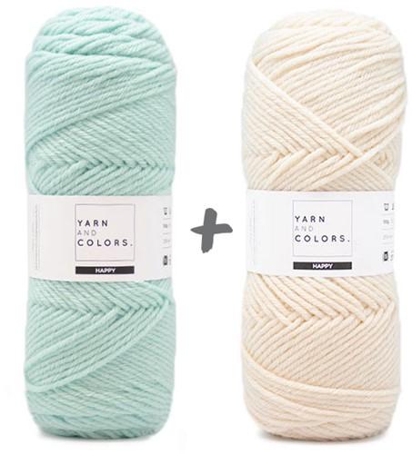Dream Blanket 4.0 KAL Knitting Kit 11 Jade Gravel & Cream