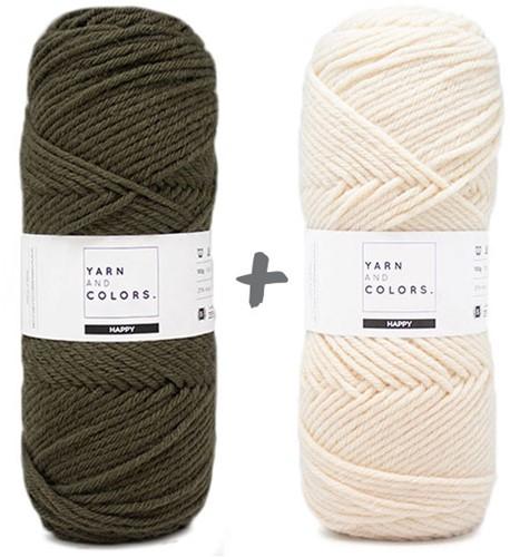 Dream Blanket 4.0 CAL Crochet Kit 12 Khaki & Cream