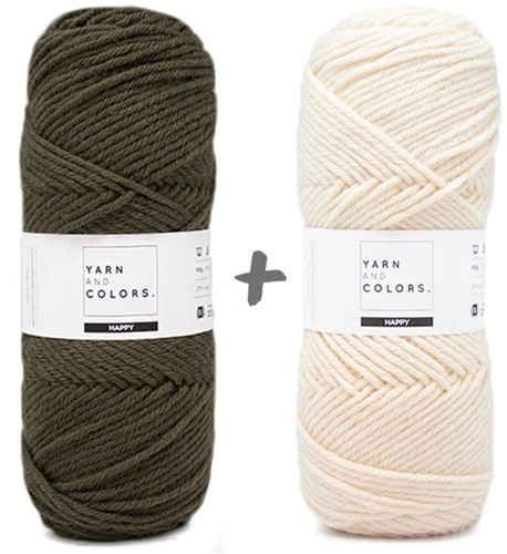 Dream Blanket 4.0 KAL Knitting Kit 12 Khaki & Cream