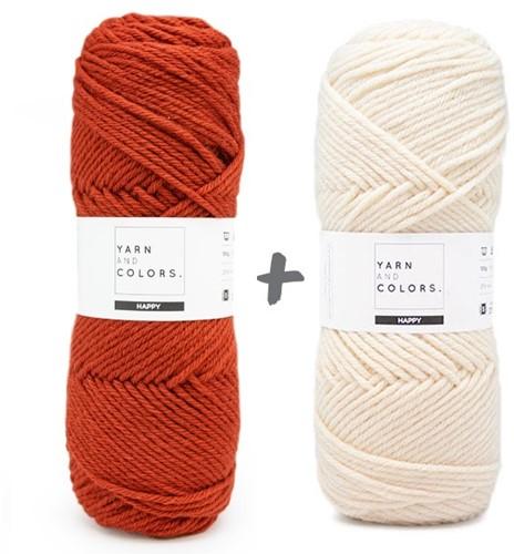 Dream Blanket 4.0 KAL Knitting Kit 17 Chestnut & Cream