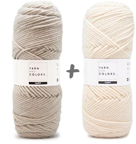 Dream Blanket 4.0 CAL Crochet Kit 2 Birch & Cream