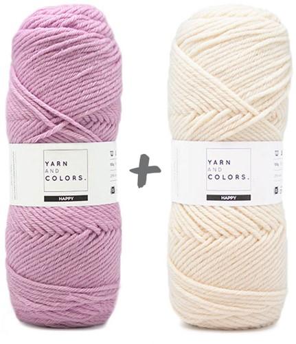 Dream Blanket 4.0 KAL Knitting Kit 9 Orchid & Cream