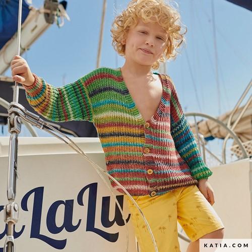 Knitting Pattern Paraiso Kids Cardigan