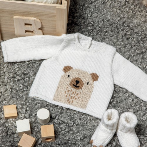 Knitting Pattern Partner 3.5 Baby Sweater