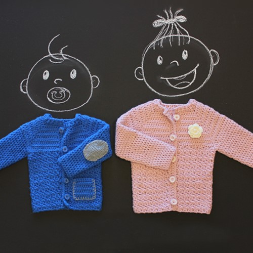 Crochet pattern Partner 6 baby cardigan