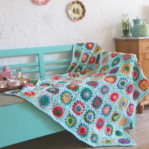 Crochet Pattern Partner 6 Granny Square Blanket