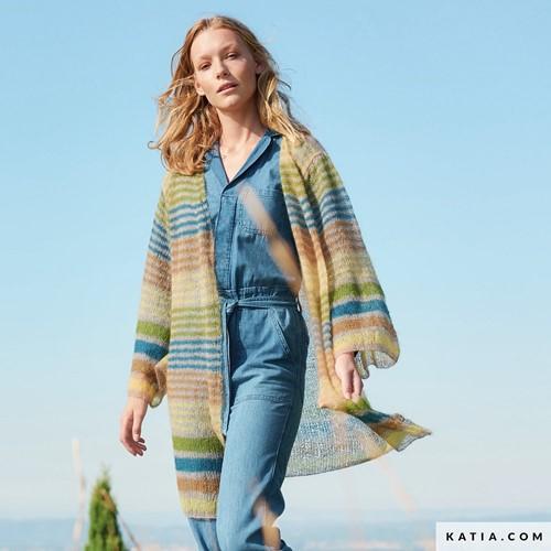 Knitting Pattern Mohair Shades Light Striped Cardigan