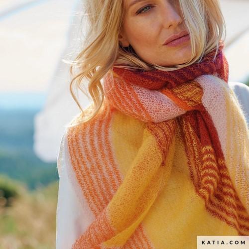 Knitting Pattern Mohair Shades Oversized Triangular Shawl