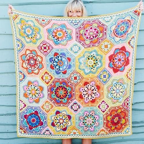 Persian Tiles Eastern Jewels Blanket Crochet Kit