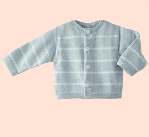 Knitting Pattern Phil Coton 3 Baby Cardigan