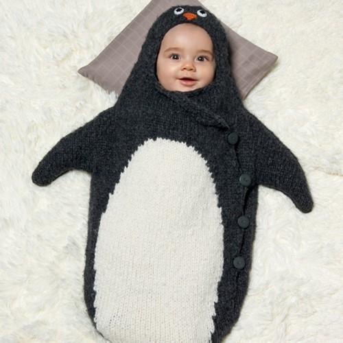 Knitting Pattern Penguin Bunting Bag