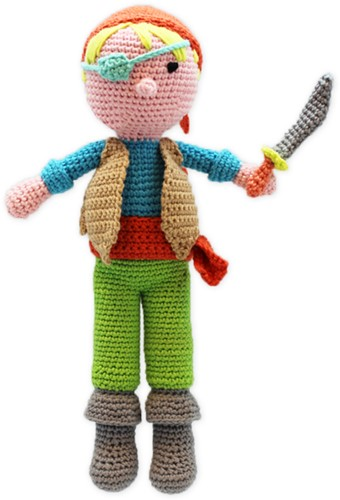 Pirate Teun Crochet Kit