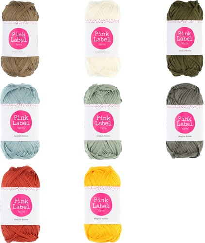 Pink Label Acrylic Ribbon All Colors Yarn Pack