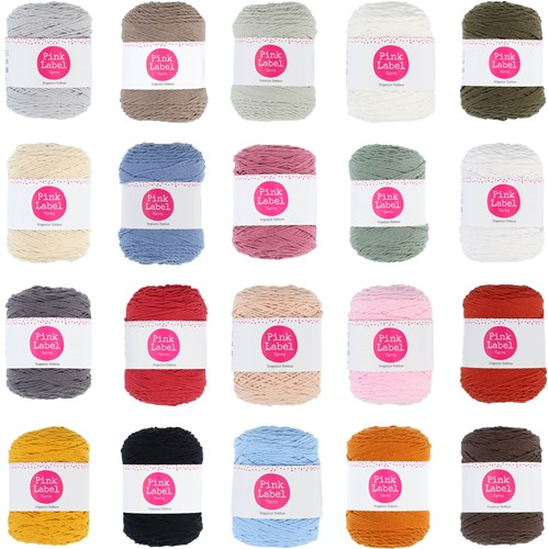 Pink Label Organic Cotton All Colors Yarn Pack
