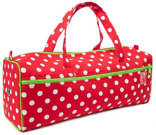 Knitting Bag Polka Dots Red