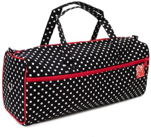 Knitting Bag Polka Dots Black