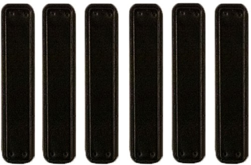 Leather Labels Black 6 pieces 10CM