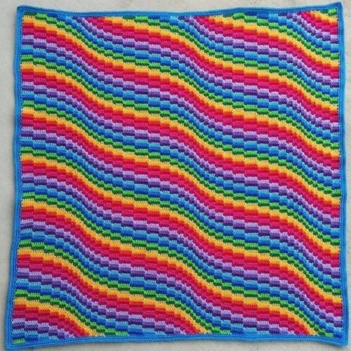 Bargello Blanket MAL Yarn Kit 3 Rainbow