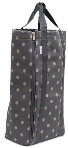 Knitting Bag Reversible Charcoal Spot