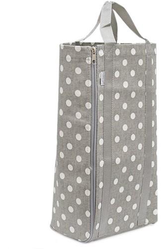 Knitting Bag Reversible Grey Spot