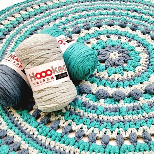 Crochet Pattern RibbonXL Rug Love MaritParit