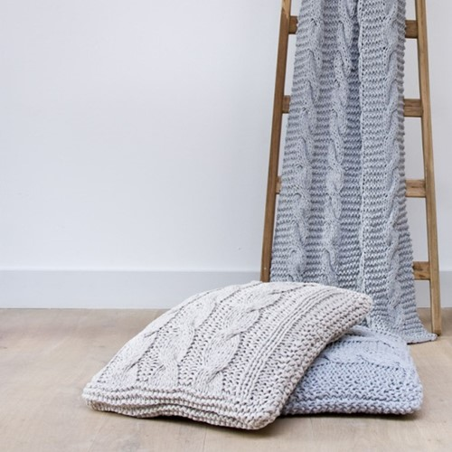 Knitting Pattern RibbonXL Cable Throw