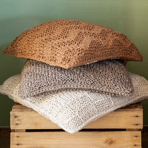 Knitting Pattern RibbonXL Cushions Bulky Textures