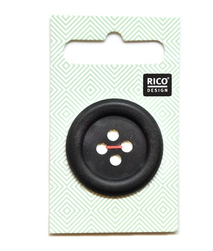 Rico Button Matt Black 34mm
