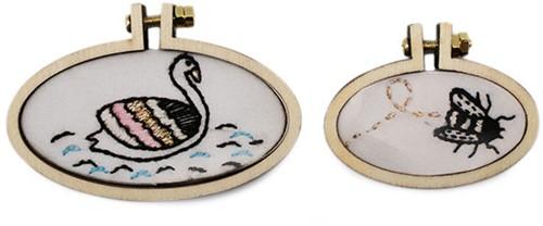 Rico Mini Embroidery Hoop Set Oval