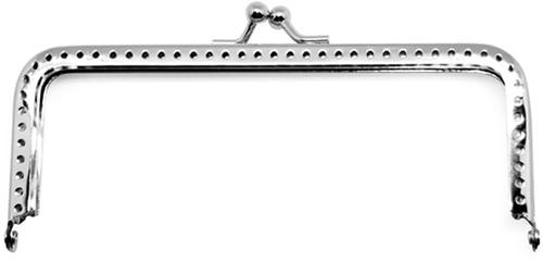 Rico purse silver cut 9 x 5 cm