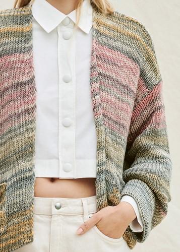 Romanza Cotone Cardigan Knitting Kit 36/40