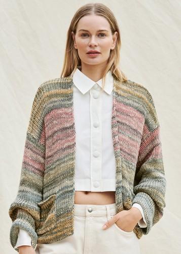 Knitting Pattern Romanza Cotone Cardigan