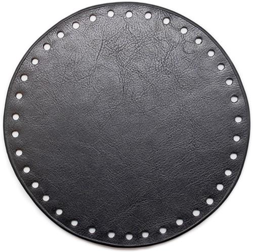 Leather Base Round Black 17cm