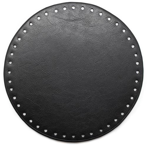 Leather Base Round Black 20cm
