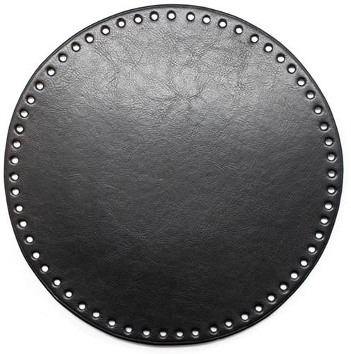 Leather Base Round Black 25cm
