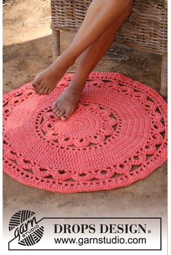 Crochet pattern Round rug