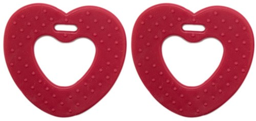 Teether Rings Heart 16 Red