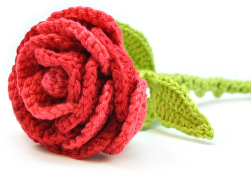 Crochet pattern flower Rose