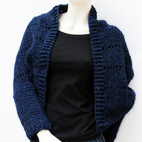 Crochet pattern Royal Tweed shrug
