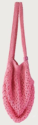 Joly Bag Knitting Kit 3 Peony Pink