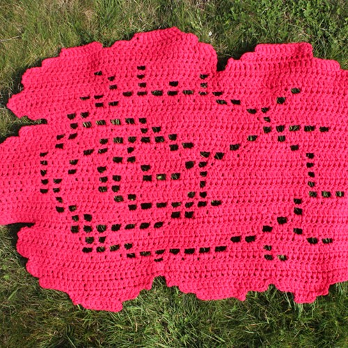 Crochet pattern Rose rug