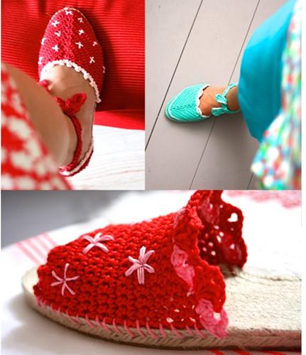 Crochet pattern Saskia's espadrilles