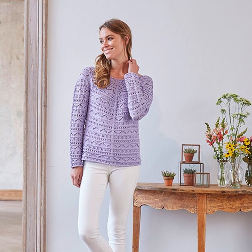 Catania Eyelet Top Knitting Pattern