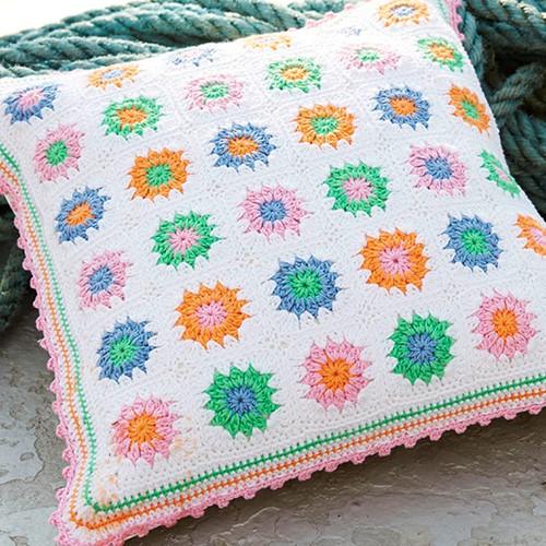 Catania Granny Square Pillow Crochet Pattern