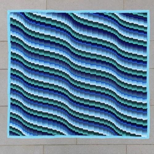 Bargello Blanket MAL Yarn Kit 2 Seafoam